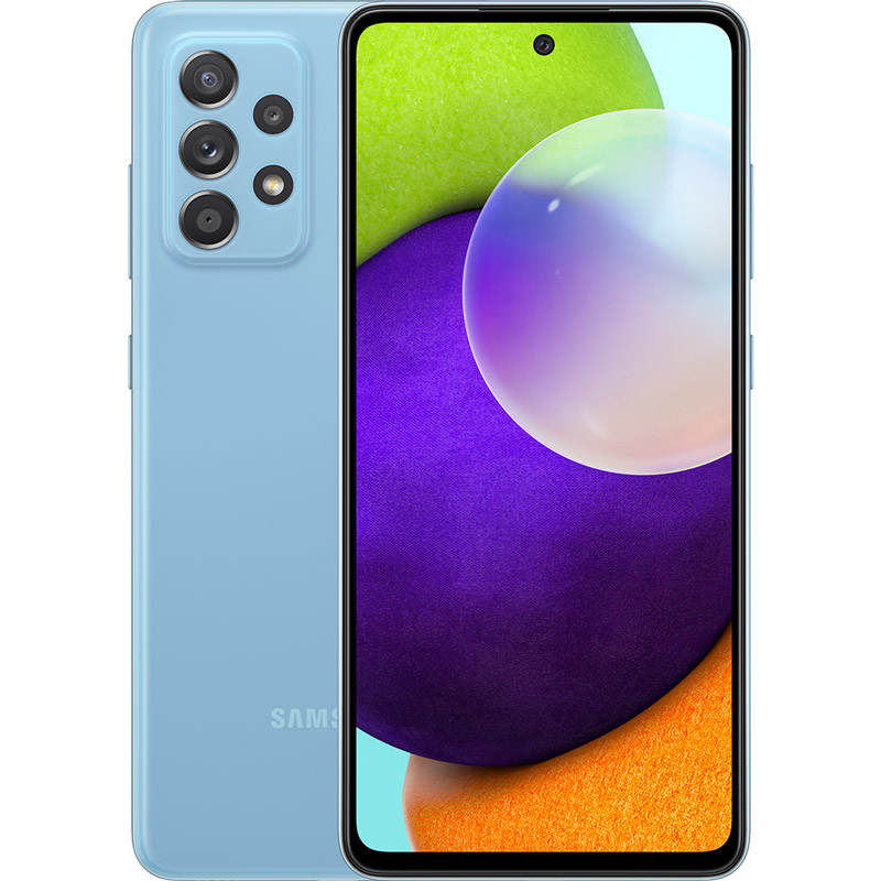 Смартфон SAMSUNG Galaxy A52 4/128 Duos Awesome Blue (SM-A525FZBDSEK)