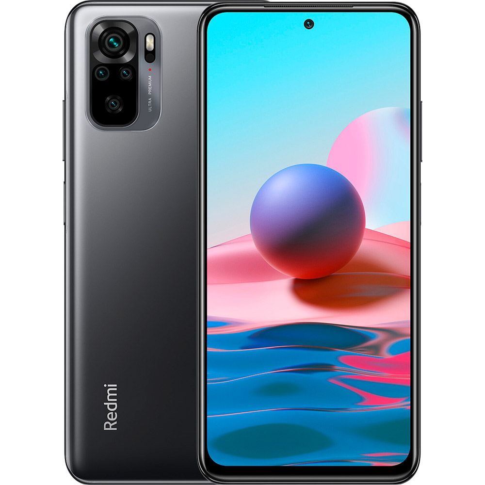 Смартфон XIAOMI Redmi Note 10 4/64 Gb Dual Sim Onyx Gray