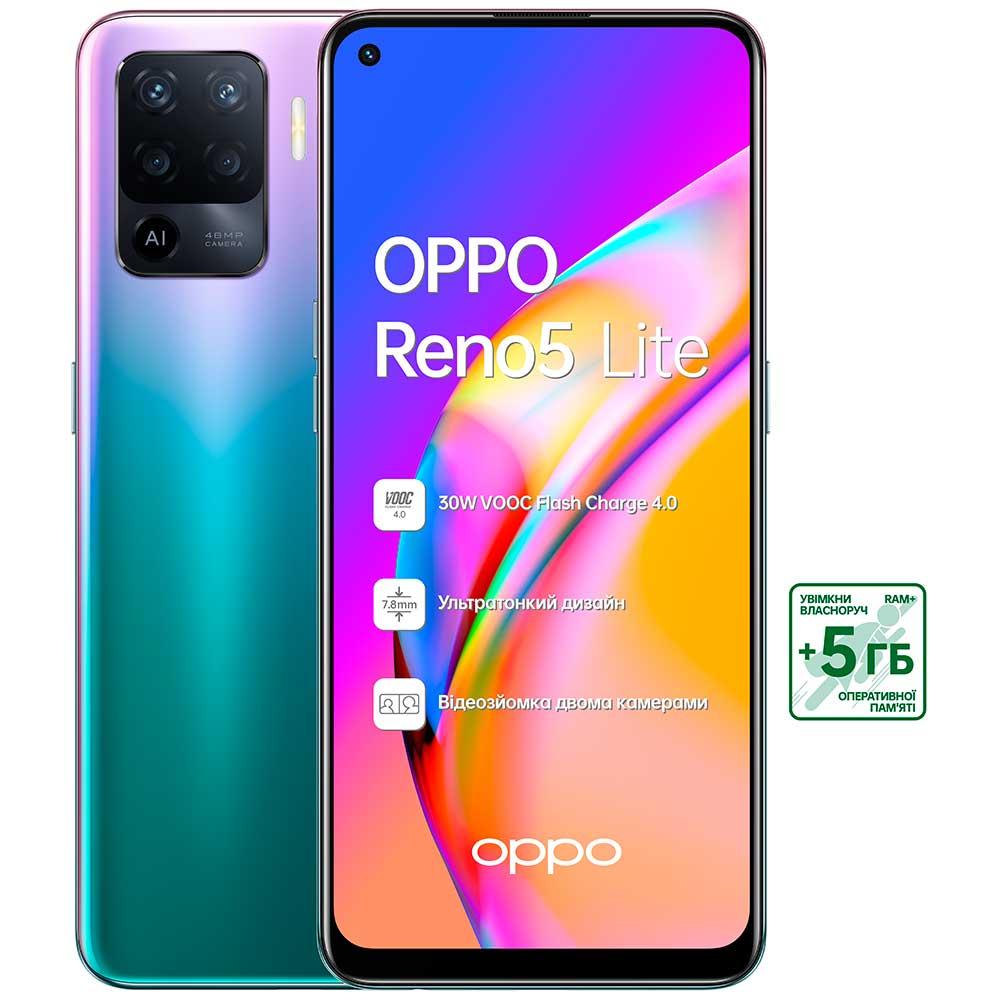 Смартфон OPPO Reno5 Lite 8/128 Gb Dual Sim Purple Встроенная память, Гб 128