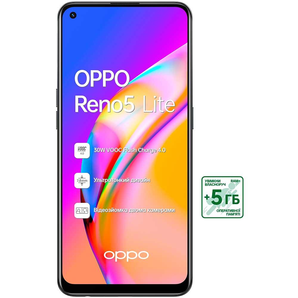 Смартфон OPPO Reno5 Lite 8/128 Gb Dual Sim Black Оперативная память 8192