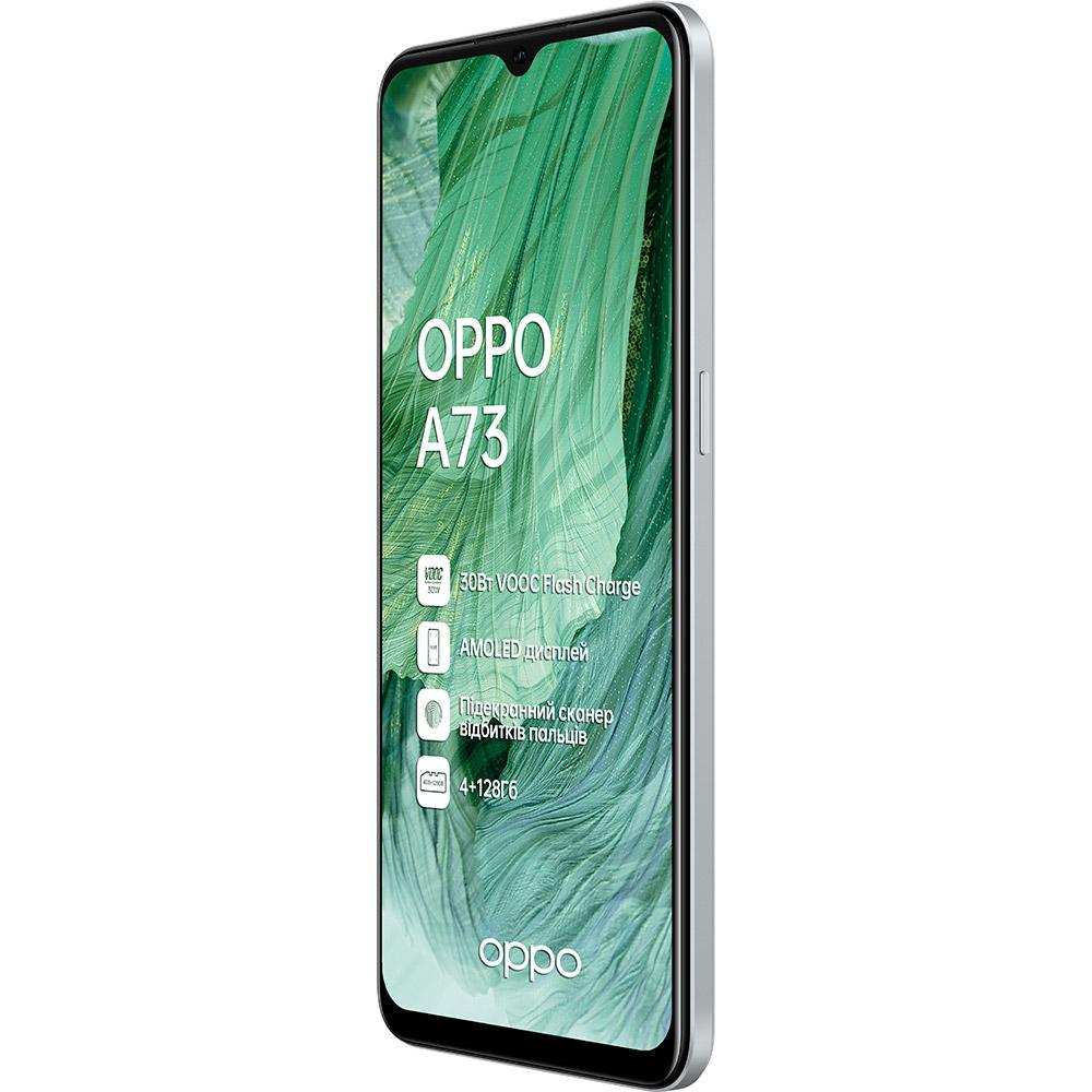 Смартфон OPPO A73 4/128GB Crystal Silver Диагональ дисплея 6.44
