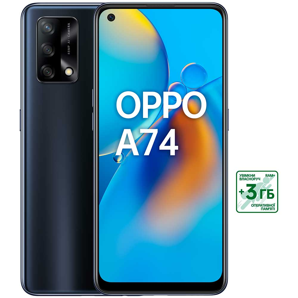 Смартфон OPPO A74 4/128 GB Prism Black Встроенная память, Гб 128