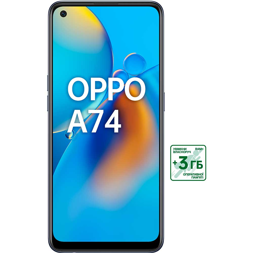 Смартфон OPPO A74 4/128 GB Prism Black Оперативная память 4096