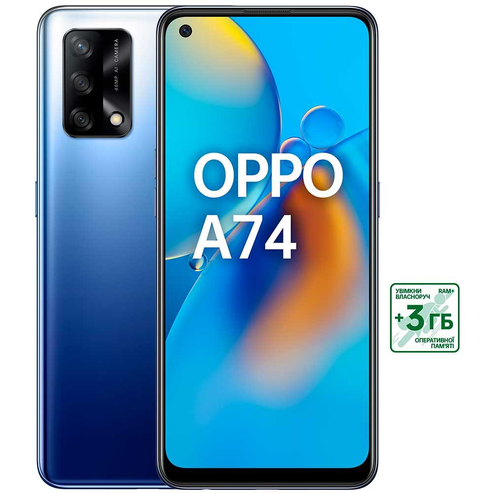 Смартфон OPPO A74 4/128 GB Midnight Blue Встроенная память, Гб 128