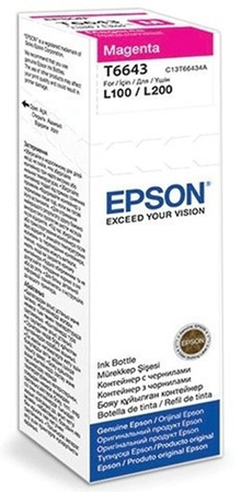 Чернила EPSON L100/L200 Magenta (C13T66434A)