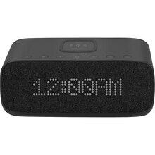 Настольные часы-будильник Promate Evoke c беспроводной зарядкой 10 Вт Black (evoke.black)
