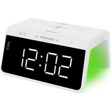 Настольные часы-будильник Promate TimeBridge-Qi с беспроводной зарядкой 10 Вт White (timebridge-qi.white)