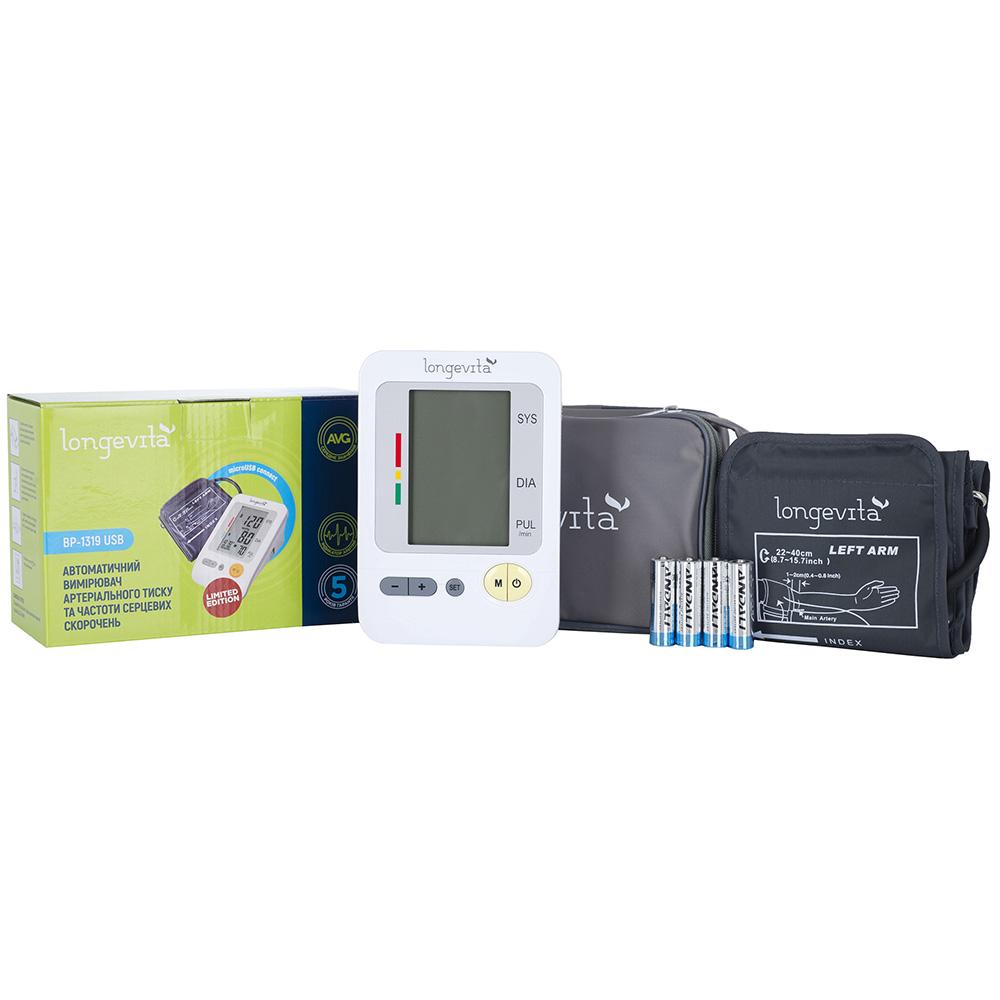 Измеритель давления LONGEVITA BP-1319 Диапазон измерения артериального давления 0-300