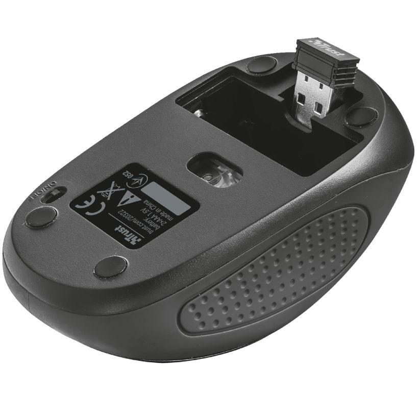 Мышь TRUST Primo Wireless Mouse black (20322) Беспроводное подключение RF