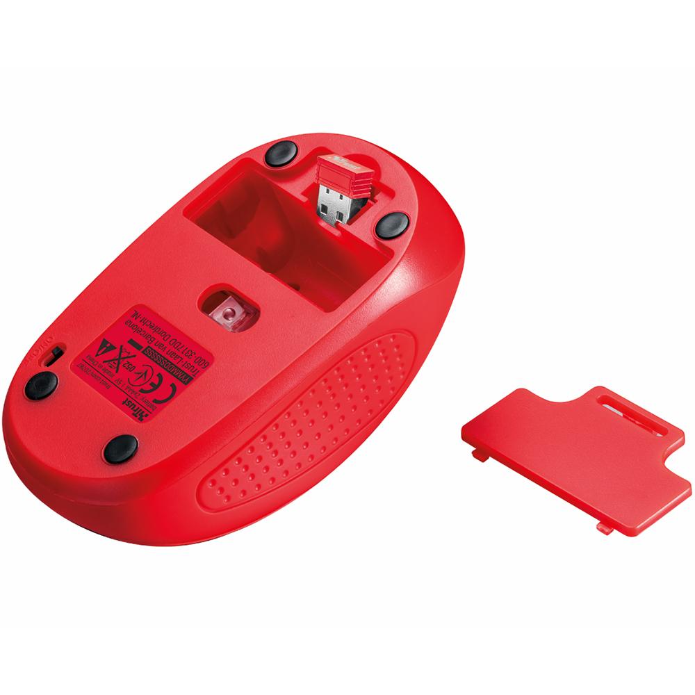 Мышь TRUST Primo Wireless Mouse Red (20787) Тип подключения беспроводное