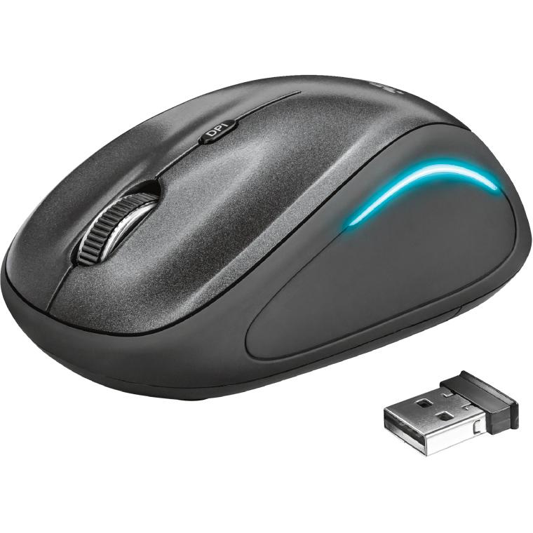 Мышь TRUST Yvi FX wireless mouse black (22333) Тип подключения беспроводное