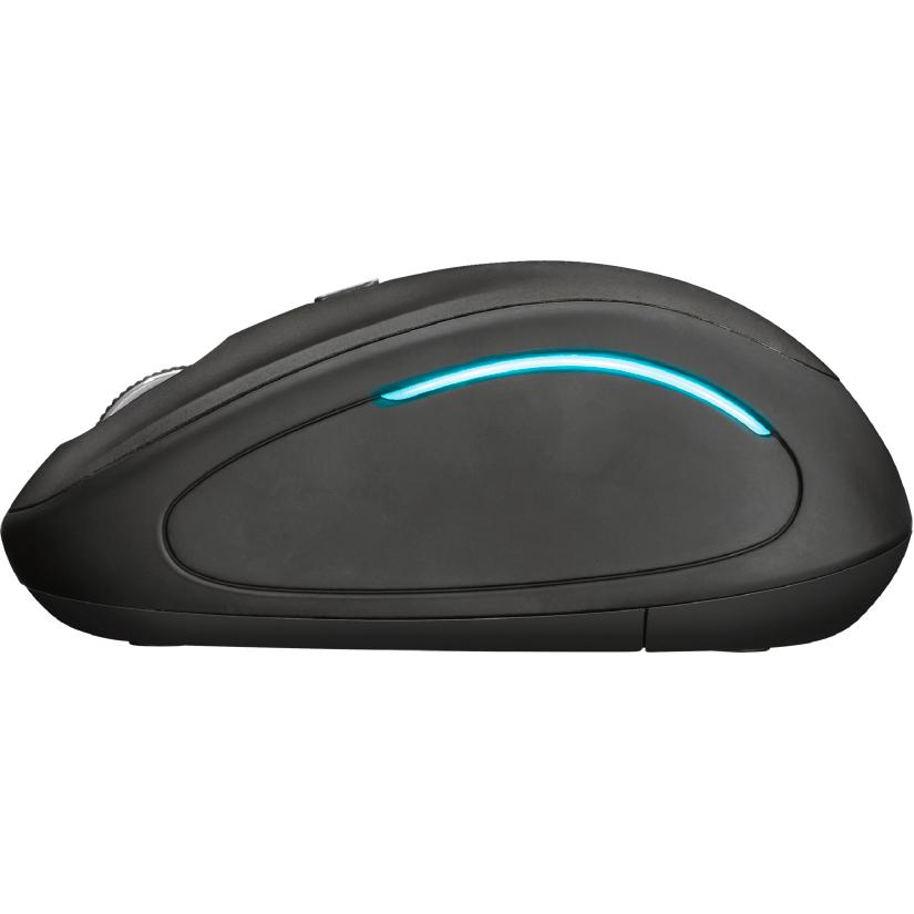 Мышь TRUST Yvi FX wireless mouse black (22333) Проводное подключение USB