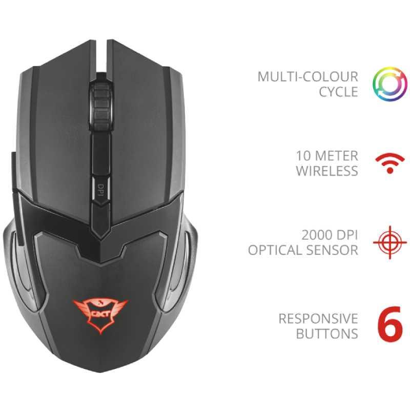 Мышь TRUST GXT 103 Gav Wireless Optical Gaming Mouse (23213) Тип подключения беспроводное