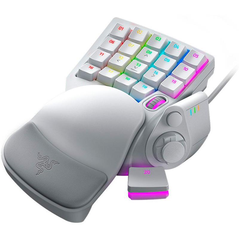 Клавиатура RAZER Tartarus Pro - Mercury - Analog - Optical (RZ07-03110200-R3M1) Комплектация клавиатура