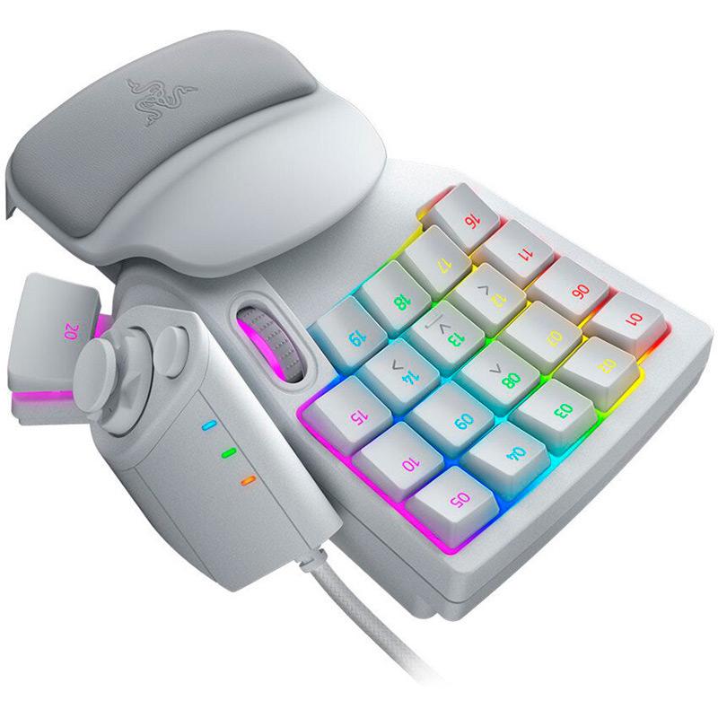 Клавиатура RAZER Tartarus Pro - Mercury - Analog - Optical (RZ07-03110200-R3M1) Класс игровая