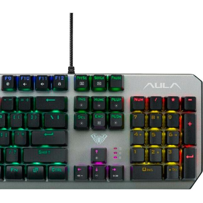 Клавиатура AULA Downguard Mechanical Wired Keyboard EN/RU/UA (6948391234533) Конструкция механическая