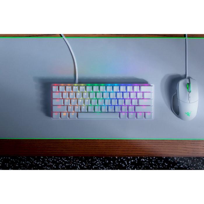 Клавиатура RAZER Huntsman mini Mercury Edition ENG purple switch (RZ03-03390300-R3M1) Конструкция механическая