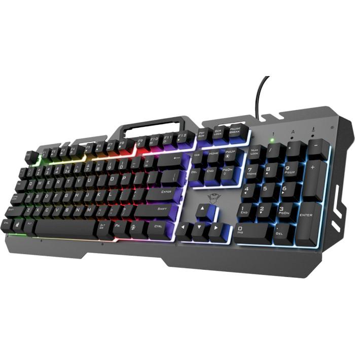 Клавиатура TRUST GXT 853 Esca Metal USB Black (23796) Комплектация клавиатура