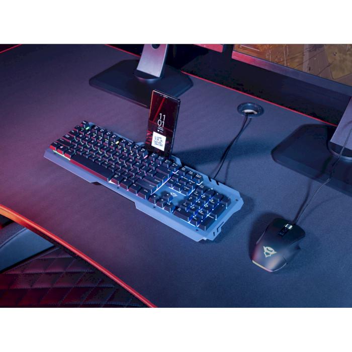 Клавиатура TRUST GXT 853 Esca Metal USB Black (23796) Конструкция мембранная