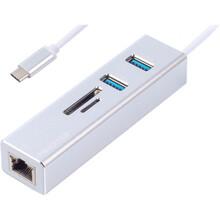 Порт-реплікатор MAXXTER USB-Gigabit Ethernet (NECH-2P-SD-01)