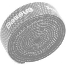 Органайзер для кабелю BASEUS COLOURFUL CIRCLE VELCRO STRAP 1 м Gray (ACMGT-E0G)