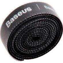 Органайзер для кабелю BASEUS COLOURFUL CIRCLE VELCRO STRAP 1 м Black (ACMGT-E01)