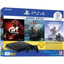 Ігрова приставка SONY PS4 1ТВ + 3 гри і підпискою PS Plus 3 міс (9785316)