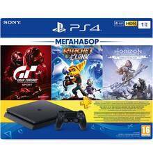 Ігрова приставка SONY PlayStation 4 1ТВ Black + 3 ігри та підпискою PS Plus 3 міс (9702191)