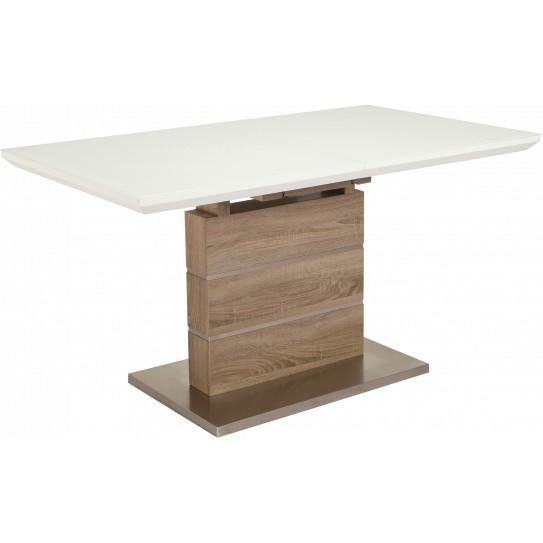 Обеденный стол GT К-6101 (140-180*80*76) White/Cappucino Ширина 1800