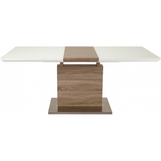 Обеденный стол GT К-6101 (140-180*80*76) White/Cappucino Тип обеденные столы