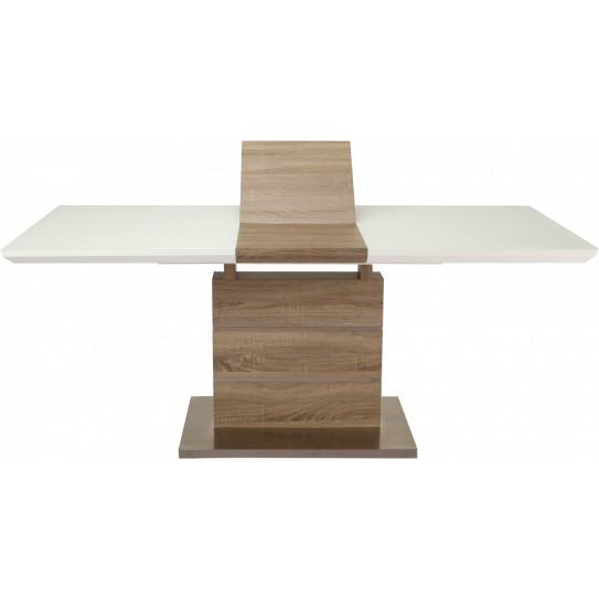 Обеденный стол GT К-6101 (140-180*80*76) White/Cappucino Высота 760