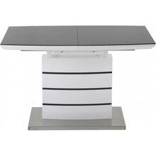 Обідній стіл GT DT8053-2 (140-180x80x76) White/Gray