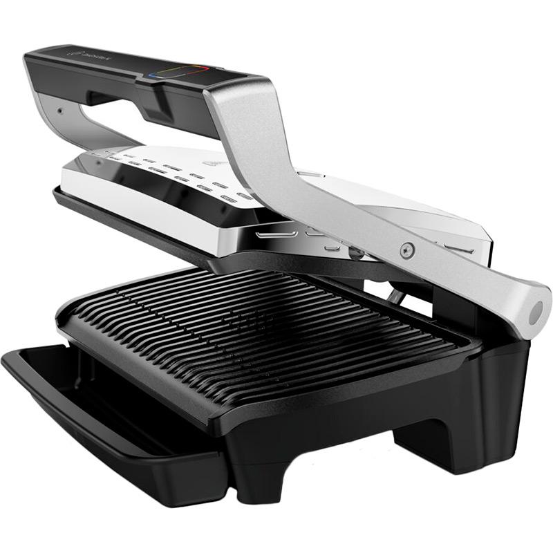 Гриль TEFAL OptiGrill Elite XL GC760D30 Додатково максимальна температура нагріву 270°C, площа панелі 800 см2, таймер на 60 хв., 12 автоматичних програм, автоматичне визначення товщини інгредієнтів, функція «Суперкорочка», приготування заморожених продуктів