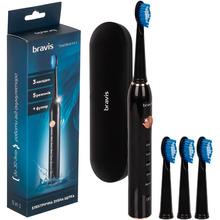 Зубная щетка BRAVIS с футляром Travel Black 5 in 1 (XM-801Black)