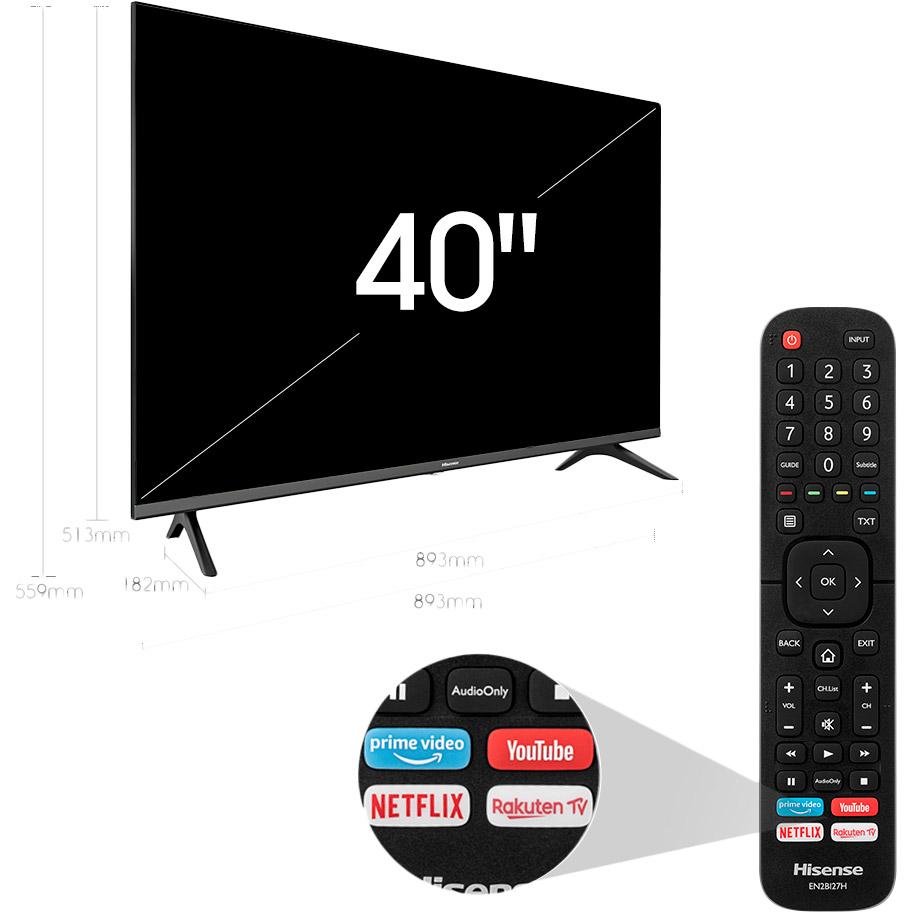 "Телевизор HISENSE 40A5600F Диагональ 39.6"" (100 см)"