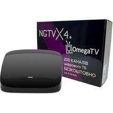 Медиаплеер NGTV X4 + подписка omega tv
