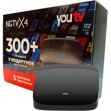 Медиаплеер NGTV X4 + подписка YOU TV